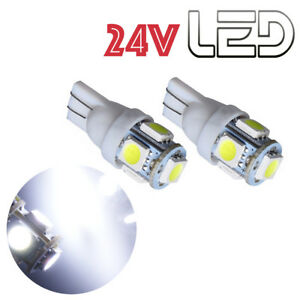 2-Ampoules-W5W-T10-LED-24V-BLANC-Camion-SCANIA-IVECO-MAN-MERCEDES-VOLVO-TRUCK