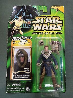Kenner Star Wars 2000 POTJ 3-3//4 Force File Obi-Wan Kenobi