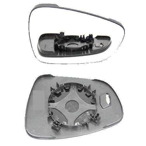 RHS Citroen C5 aile miroir de verre avec plaque de base Chauffé argent 2008 To 2018