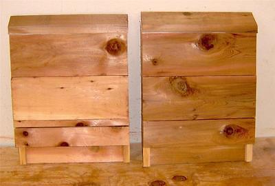Cedar Bat House Weather-Resistant 2-Chamber Cedar Wood Conservation Box
