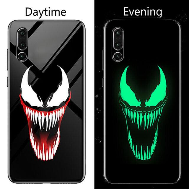 Marvel Venom Luminous Glass Phone Case For Huawei P20 Pro Lite P10 ...