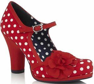 5a1072e802 Image is loading Ruby-Shoo-Hannah-Red-Spots-Womens-Block-Heels
