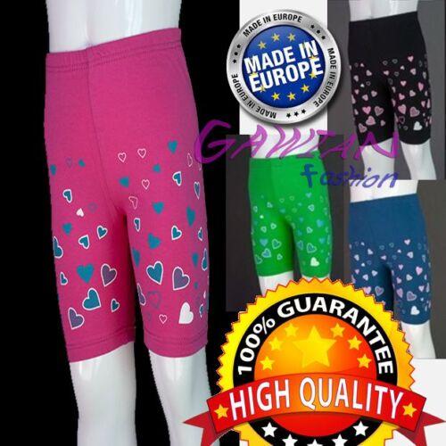 Le ragazze Sovra-Ginocchio Palestra Scuola Pe Sport Danza Pantaloncini Hot Pants decorato età 4M 14Y