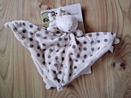 Elli /& Raff Comfort Blanket,Comforter,Soft Toy Teether Plush Ring Rattle Grey