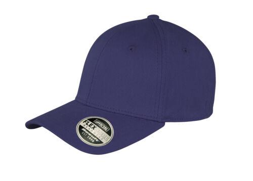 New Unisex Plain Navy Blue Flexible Fit Flex Core Cotton Fitted Baseball Cap