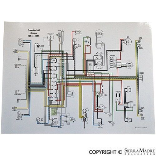 Full Color Wiring Diagram  Porsche 356 Pre