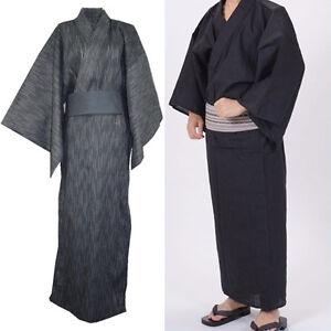 2b1c2a7546 Image is loading Men-Japanese-Kimono-Yukata-Bathrobe-Pajamas-Cotton-Robe-