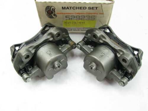 RWD ONLY 5674849 Front Disc Brake Caliper Set W// Brake Pads REMAN