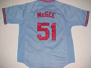 uk availability 0a0d5 4e911 Details about St. Louis Cardinals Willie McGee #51 MLB NL Nike Cooperstown  Blue Red Jersey M