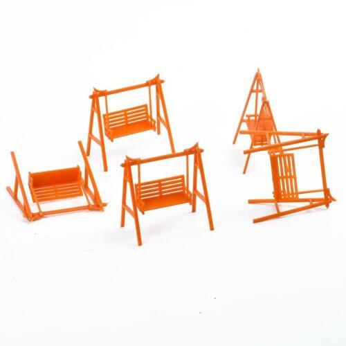 5x 1:50 Kunststoff Puppenhaus Miniatur Schaukel Möbel Spielzeug