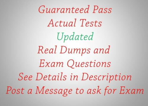 IT Actual Tests Updated Real Dumps and  Exam Questions 100/% Success Guaranteed