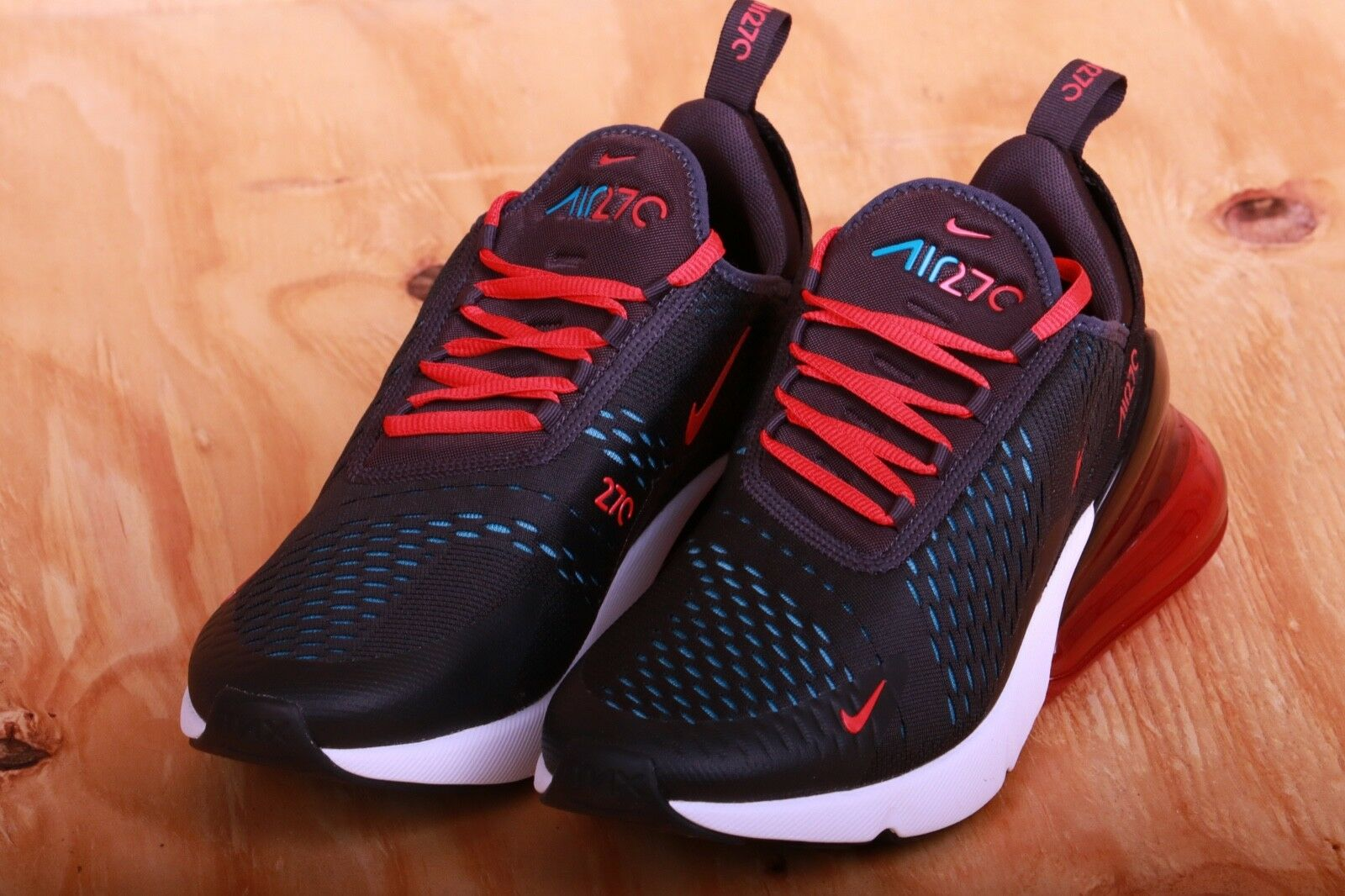 04d97e8293 Nike Women s Air Max 270 Oil Grey Speed Red Neo Turquoise Ah6789 003 ...