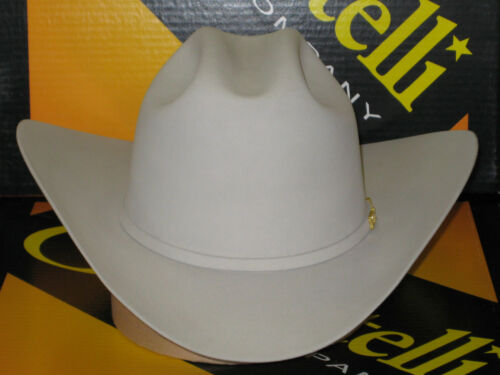 "SERRATELLI 10X Cali Style PLATINUM 3 1//2/"" BRIM WESTERN COWBOY HAT ALL SIZES"