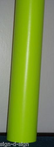 FLUORESCENT YELLOW SELF ADHESIVE VINYL 610mm x 1mtr