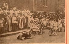 PARIS ST CHRISTOPHE JAVEL MGR CREPIN BICYCLETTE TROTINETTE IMAGE 1933 OLD PRINT