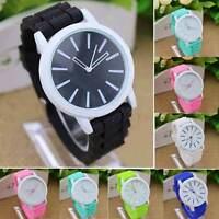 Fashion Women's Geneva Crystal Jelly Gel Silicon Girl Quartz Wrist Watch