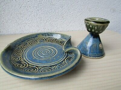 Sean Lawlor Pottery Candle Holder And Spoon Rest Hand Made In Ireland Ebay