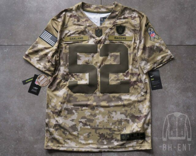 Nike Salute to Service Oakland Raiders Khalil Mack 52 Jersey Ah4950 338 Sz 2xl
