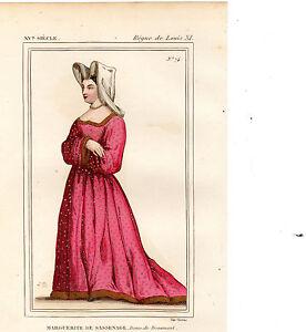 Costume De La France Xve Siècle / Marguerite De Sassenage, Dame De Beaumont