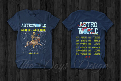 Travis Scott Astroworld Tour 2019 Merch Festival Pop Up Season Pass T Shirt Rap