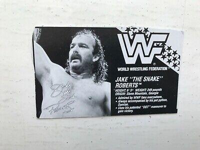 RARE WWE Jake il serpente ROBERTS HASBRO WRESTLING Figura WWF SERIE 1 1990