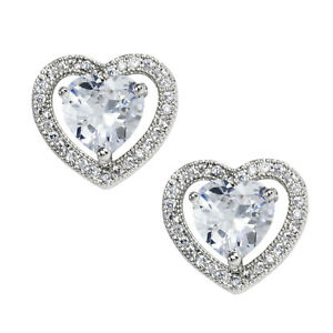 Heart-Halo-Earrings-Stainless-Steel-Clear-CZ-Posts