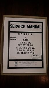 Details about HAMMOND ORGAN SERVICE MANUAL A 100 AB BA BC BCV BV B2 on