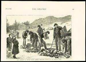 1875-Antique-Print-SOUTH-WALES-Miners-Lock-out-Brecon-Road-Stone-Breaking-47
