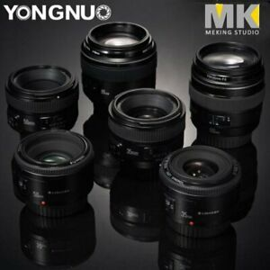 YONGNUO-YN-35mm-40mm-50mm-100mm-EF-AF-MF-prime-fixe-Lentille-Pour-Nikon-Canon-Camera
