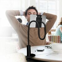 Tablet Stand Holder Universal Iphone Ipad Portable Mount Flexible Arm Black