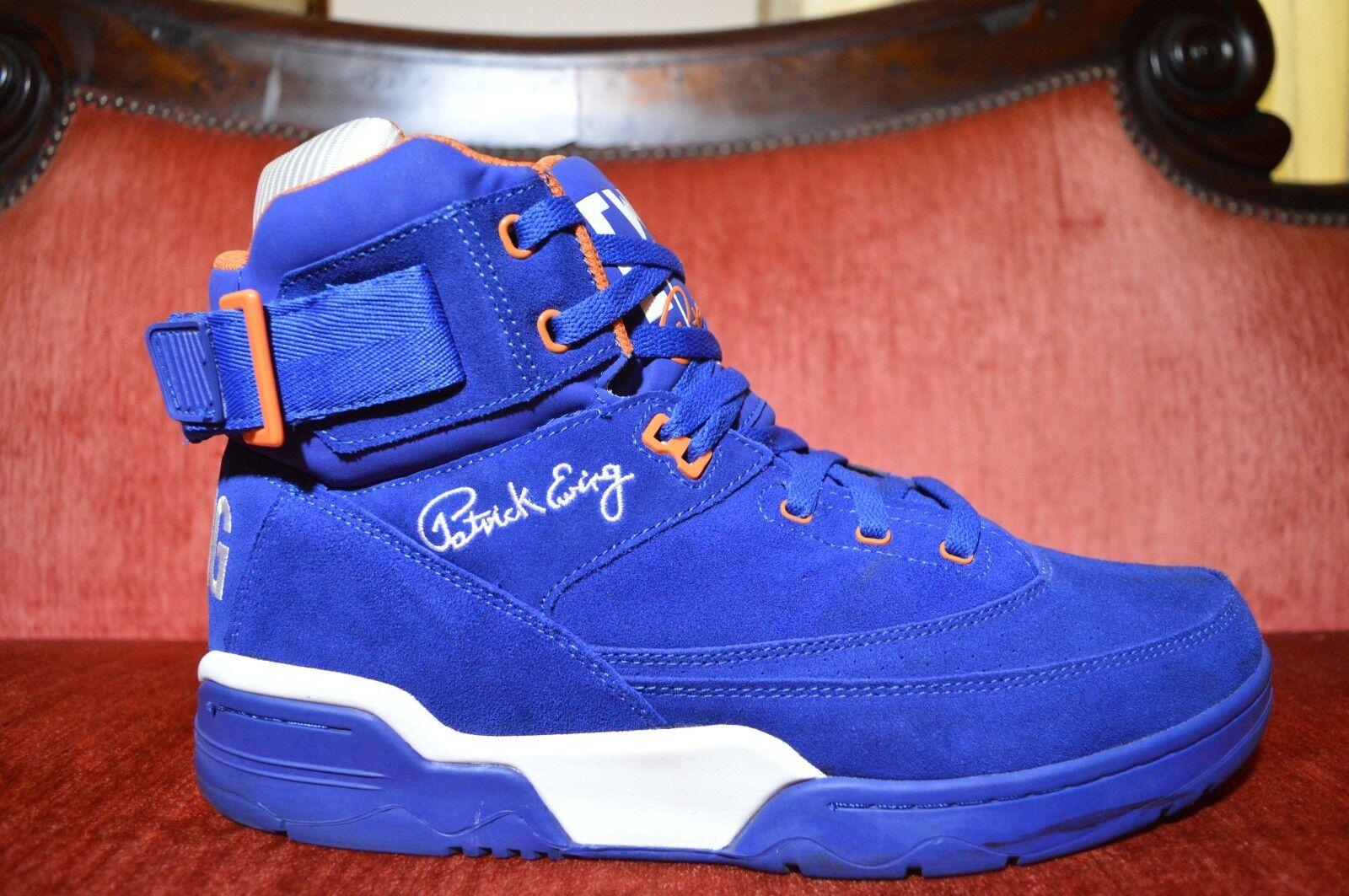 Patrick Ewing 33 Hi Royal azul Suede Naranja blancoo Tamaño 13 9 10 condición
