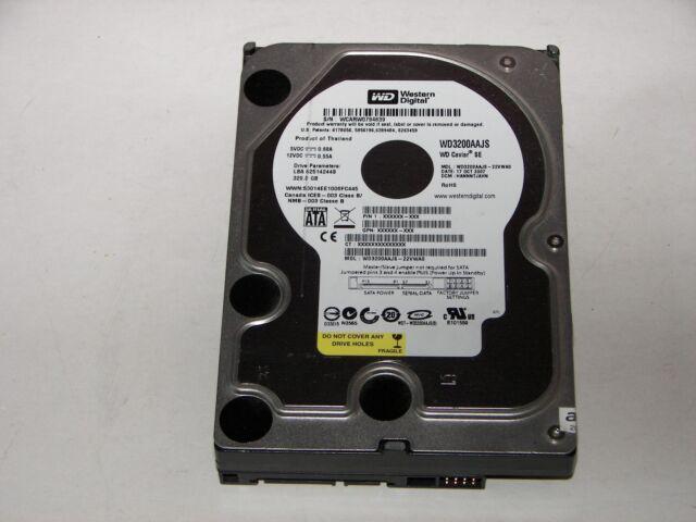 """Western Digital WD3200AAJS-22VWA0 320GB 8MB Cache 7200RPM SATA 3.0Gb/s 3.5"""" HDD"""