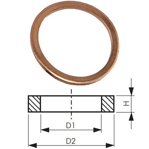 din 7603 a-para roscas externas junta roscada Cobre-standard denso anillos
