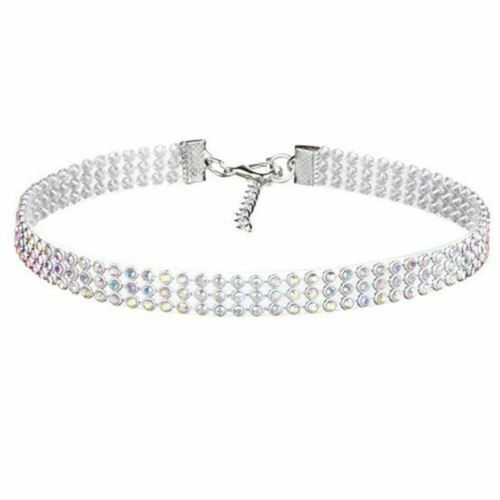 FULLY CRYSTAL FIT CHOKER AB CRYSTAL NECKLACE WOMEN HALLOWEEN COSTUME COLLAR