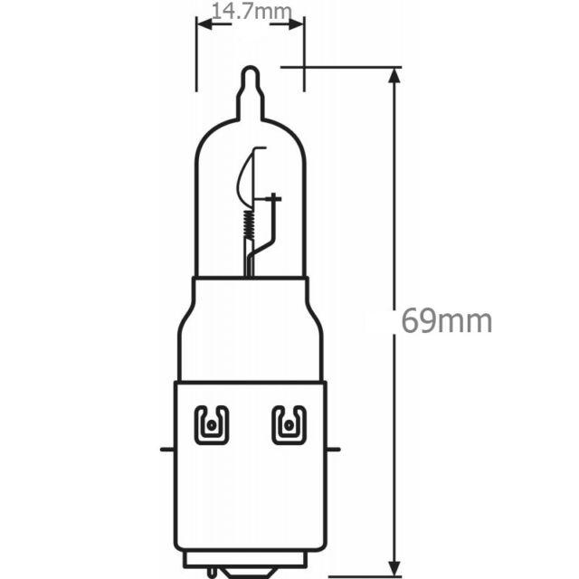 35W BA20D S2 Birne Lampe Glühbirne Glühlampe Birne Scooter Roller OSRAM 12V 35