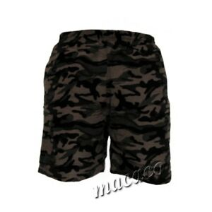 Dettagli su Costume Mare Uomo Boxer Beach Short mimetico fango camouflage militare slip