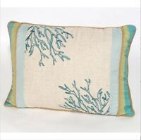 C and F Enterprises Natural Shells 12 x 16 in. Embroidered Coral Pillow