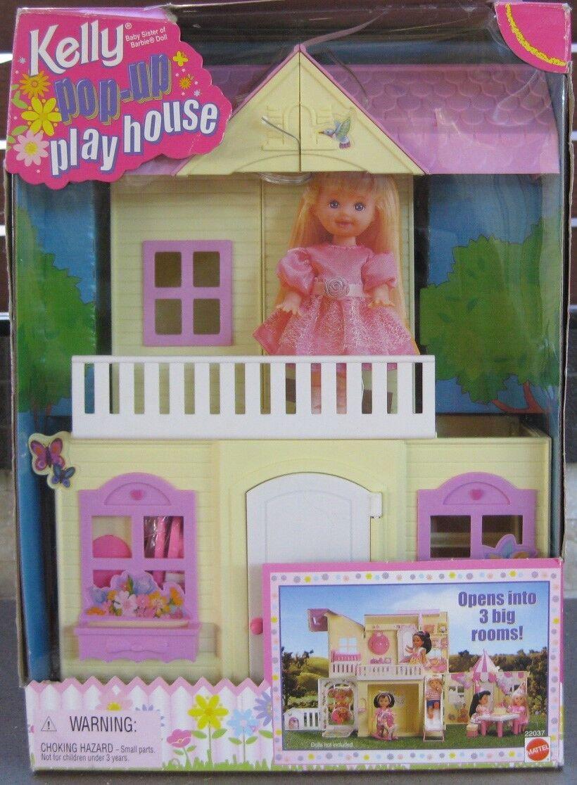 Barbie Kelly Pop Up Playhouse  en Caja Original, Caja Dañada  fechada 1999