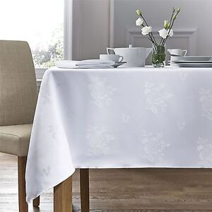 Charmant Image Is Loading WOVEN DAMASK ROSE WHITE SQUARE TABLECLOTH 54 X