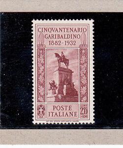 FRANCOBOLLI-REGNO-D-039-ITALIA-LIRE-2-55-GARIBALDI-1932-PERFETTO