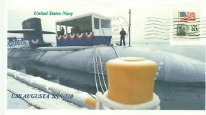 Uss-Augusta-SSN-710-Marineblau-U-Boot-Taufe-Farbe-Foto-Maschine-Poststempel