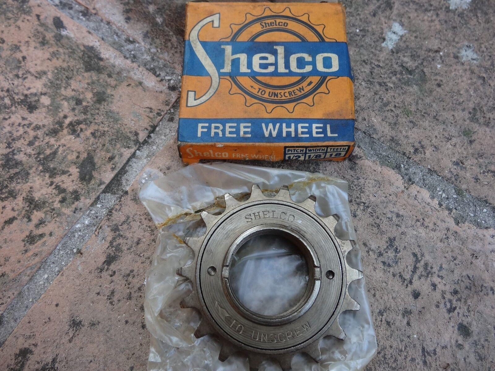 NIB  Shelco free  wheel single speed teeth 18 pitch 1 2  width 1 8   promotions