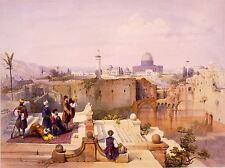 PAINTINGS RELIGION ISLAM MOSQUE OMAR JERUSALEM ART POSTER PRINT LV3441