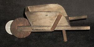 Dollhouse Miniature Wooden Mexican Wheel Barrow 1:12 #WO1937 Garden Yard