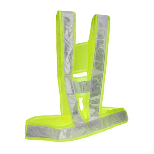 1 Stück Sicherheitsweste Warnkleidung Masche Stoff Veste mit Reflexstreifen