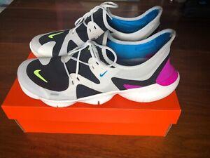 Details about Herren Nike Free RN 5.0 White SummitVolt GlowHyper Violet Sz 12.5