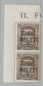 Italy-AMG-FTT-Revenue-stamp-6-12-20-mnh-gum