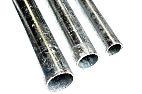 4 diameters Galvanised Mild Steel ROUND TUBE 3 Lengths to Choose From