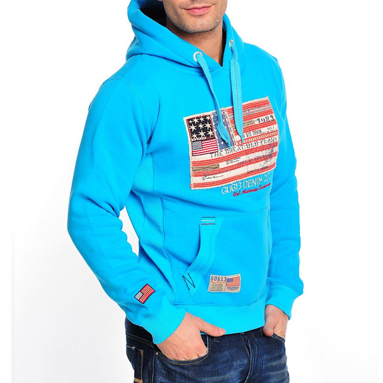 Gangster Unit FELPA gu-618 UOMO FLAG AMERICA hoodie gu-618 FELPA e9d173