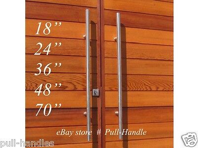 Pull Entry Bar Handle 304 Stainless Steel Entrance Front Door Glass Pulls Modern Ebay